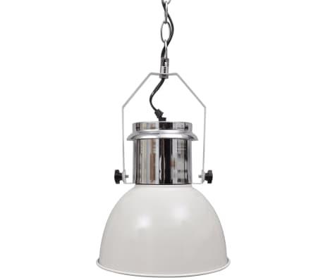 vidaXL Plafondlampen in hoogte verstelbaar modern metaal wit 2 st[4/11]