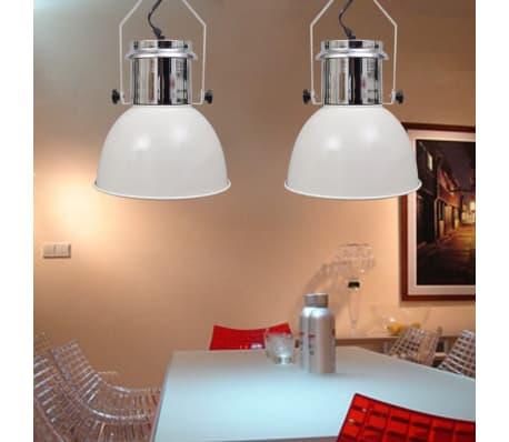 vidaXL Lámpara de techo altura ajustable moderna metal blanco 2 uds[7/12]