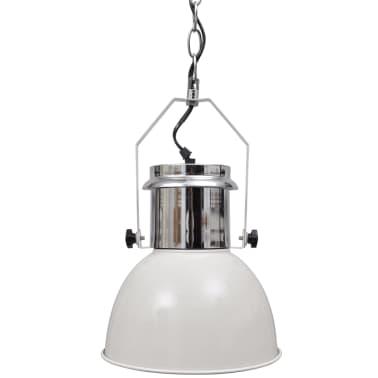 vidaXL Lámpara de techo altura ajustable moderna metal blanco 2 uds[4/12]