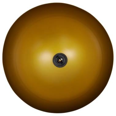 vidaXL Plafondlampen in hoogte verstelbaar halfrond zwart 2 st[8/11]