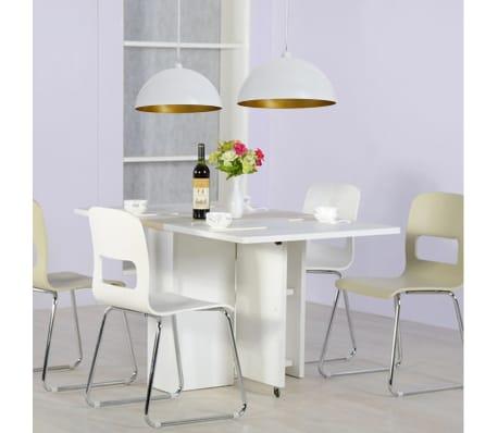 Halfronde metalen hanglamp wit set van twee online for Hangeleuchte esstisch