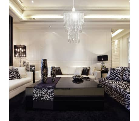 Lámpara colgante elegante con cristales, 22.5 x 30.5 cm[5/14]