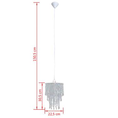 Lámpara colgante elegante con cristales, 22.5 x 30.5 cm[12/14]