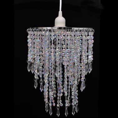 Lámpara colgante elegante con cristales, 22.5 x 30.5 cm[1/14]