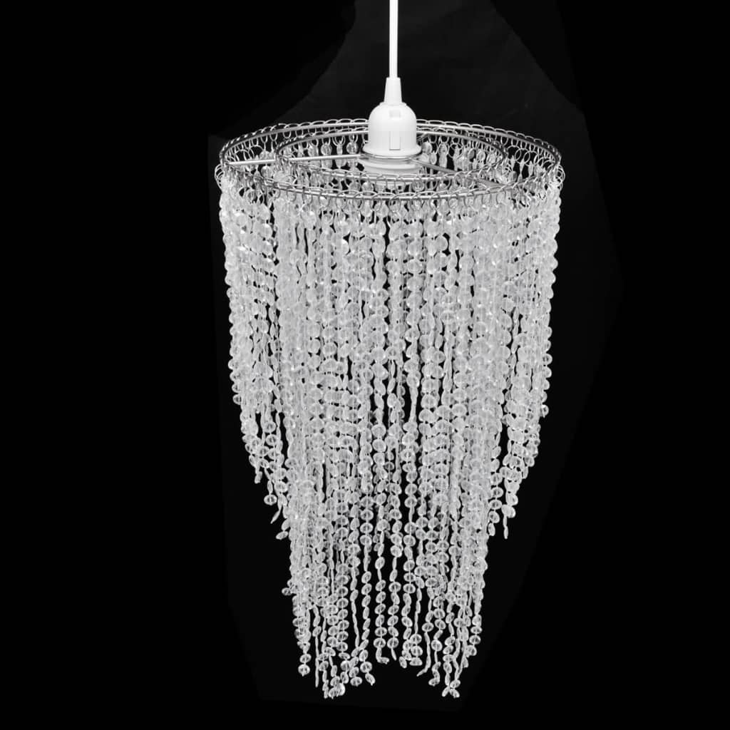 Lampă de tavan cu cristale 26,5 x 50 cm imagine vidaxl.ro
