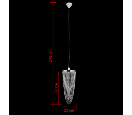 Candelabro de tecto, cristal / 22 x 58 cm[8/10]