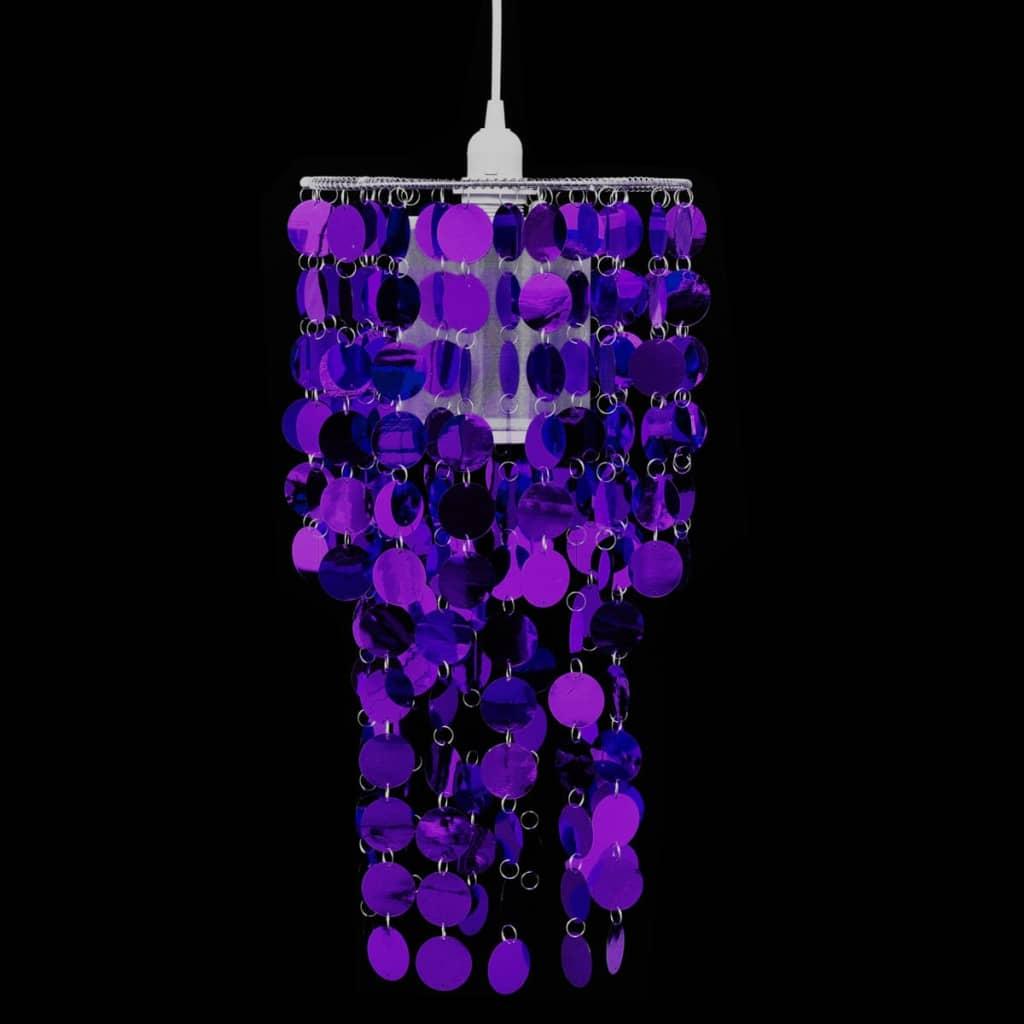 Lampă de tavan cu paiete 26 x 56 cm, Violet imagine vidaxl.ro