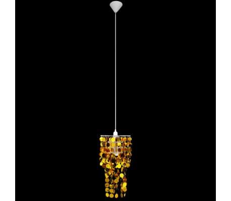 Circle Paillette Pendant Chandelier Lamp 26 X 56 Cm Gold