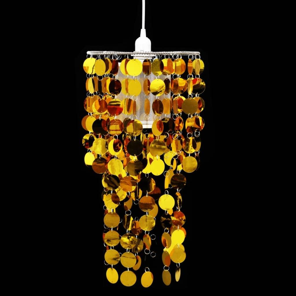 Lampă de tavan cu paiete 26 x 56 cm, Auriu imagine vidaxl.ro