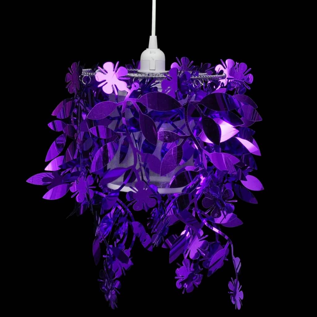 Lampă de tavan cu paiete 21,5 x 30 cm, Violet imagine vidaxl.ro