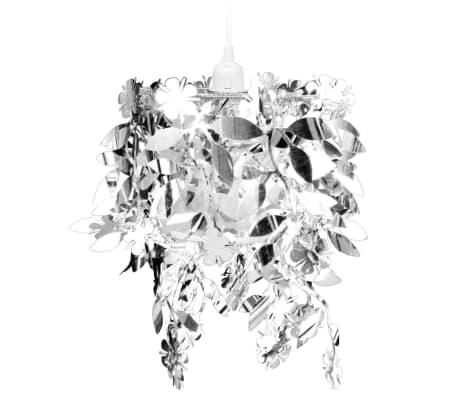 vidaXL Lustre suspendu à feuilles paillette 21,5 x 30 cm Argenté[2/11]