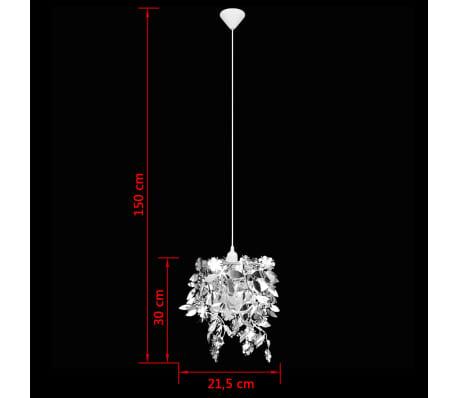 vidaXL Lustre suspendu à feuilles paillette 21,5 x 30 cm Argenté[9/11]