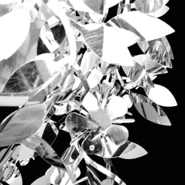vidaXL Lustre suspendu à feuilles paillette 21,5 x 30 cm Argenté[4/11]