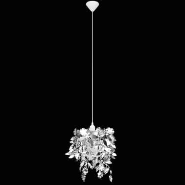 vidaXL Lustre suspendu à feuilles paillette 21,5 x 30 cm Argenté[5/11]