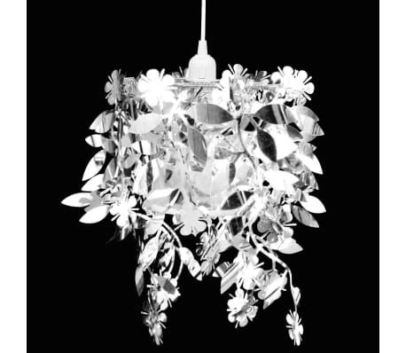 vidaXL Lustre suspendu à feuilles paillette 21,5 x 30 cm Argenté[1/11]