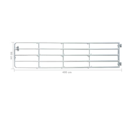 "vidaXL 5 Bar Field Gate 157.5"" x 35.4""[6/6]"