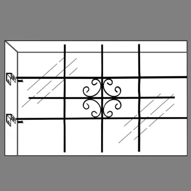 """vidaXL Window Security Grilles 27.2"""" x 44.9""""[6/7]"""