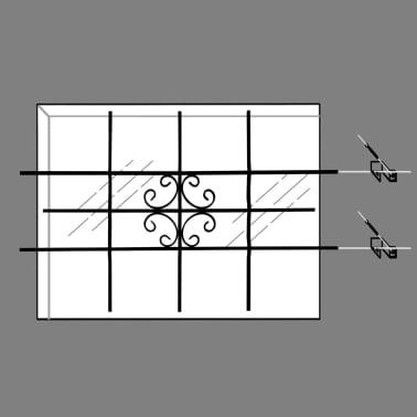 """vidaXL Window Security Grilles 27.2"""" x 44.9""""[7/7]"""