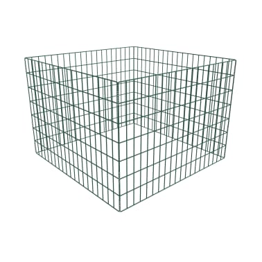 Einzäunung für Gartenkomposthaufen Quadratmaschenzaun 100 x 100 x 70cm[1/3]