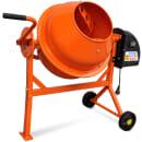 Betoneira eléctrica 63 L 220 W em aço laranja