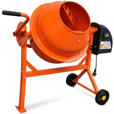 Hormigonera naranja eléctrica de acero, 63 litros, 220 V[1/5]