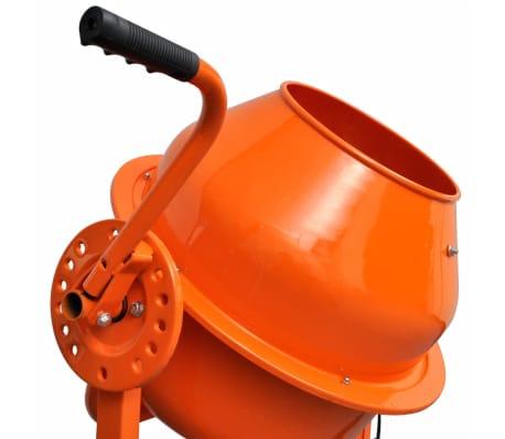 Hormigonera naranja eléctrica de acero, 63 litros, 220 V[3/5]