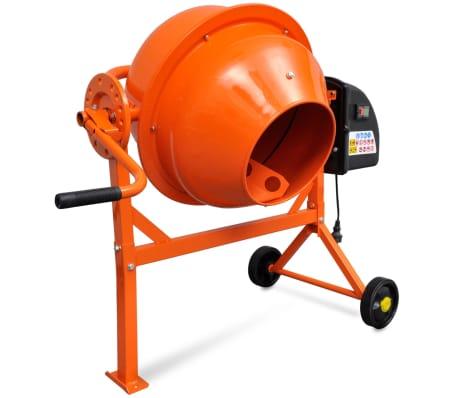 Hormigonera naranja eléctrica de acero, 63 litros, 220 V[4/5]