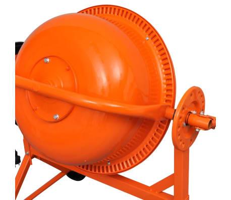 Hormigonera naranja eléctrica de acero, 63 litros, 220 V[5/5]