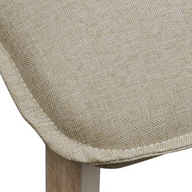 vidaXL Sillas de comedor 2 uds tela beige y madera maciza de roble[6/7]