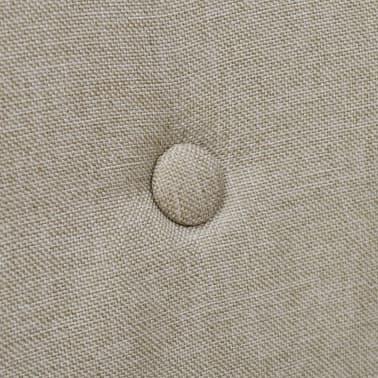 vidaXL Blagovaonske stolice od tkanine i masivne hrastovine 2 kom bež[5/6]