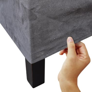 vidaXL Blagovaonske Stolice 2 kom Tkanina Tamno Sive[2/7]