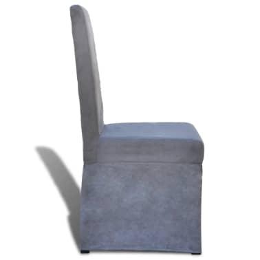 vidaXL Blagovaonske Stolice 2 kom Tkanina Tamno Sive[4/7]