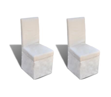 vidaXL Blagovaonske stolice od tkanine 2 kom krem bijele
