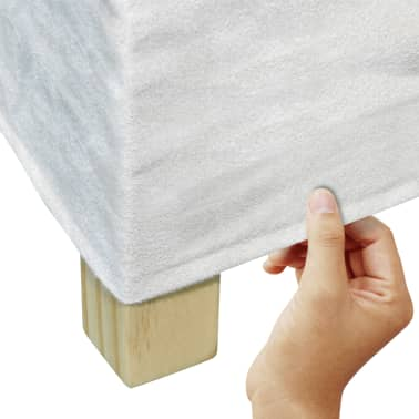 vidaXL Blagovaonske Stolice 4 kom Tkanina Krem Bijele[2/6]