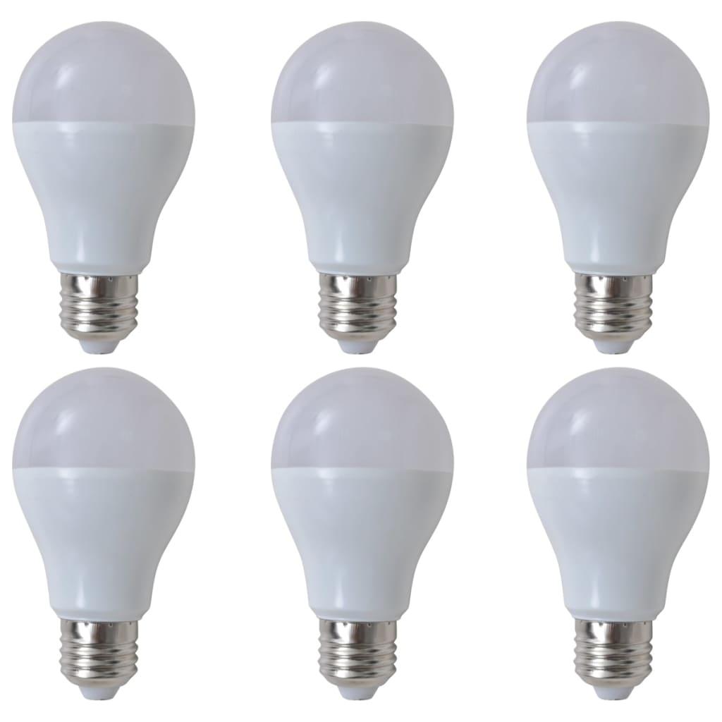 Teple bílé LED žárovky 6 ks, 7 W / E27
