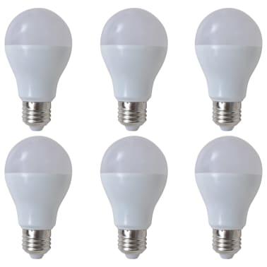 Lampadine led luce bianca calda 6 pezzi 7 w e27 for Lampadine al led luce calda