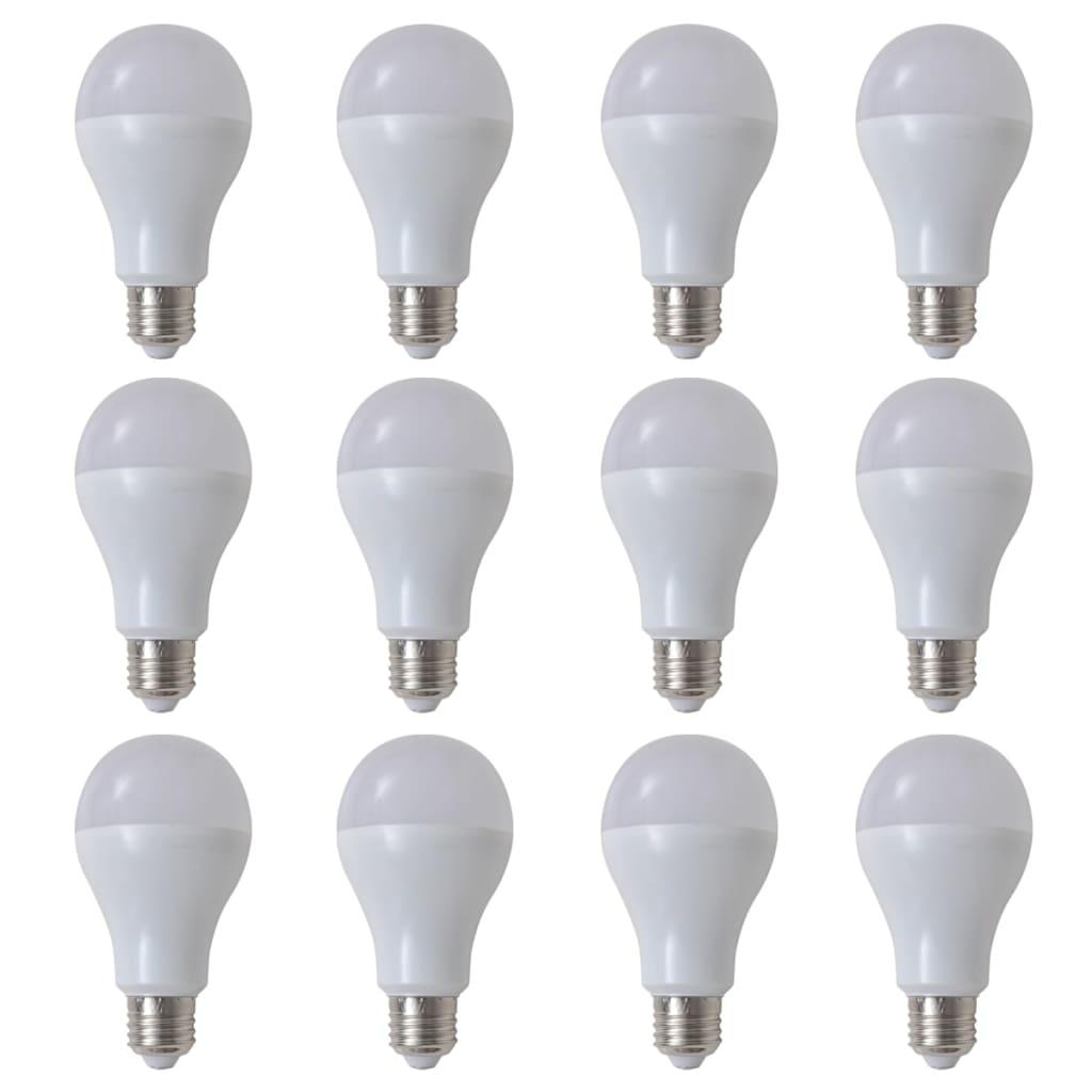 Teple bílé LED žárovky 12 ks, 7 W / E27