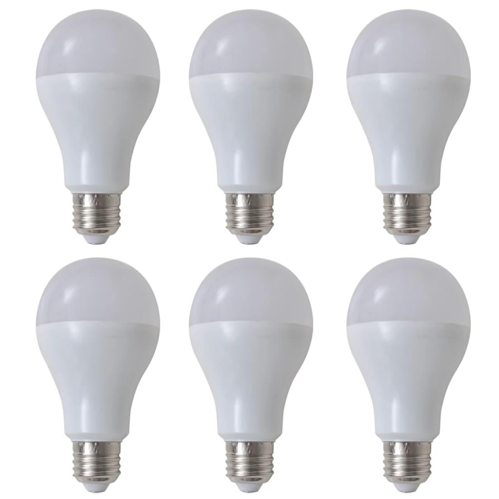 Teple bílé LED žárovky 6 ks, 9 W / E27
