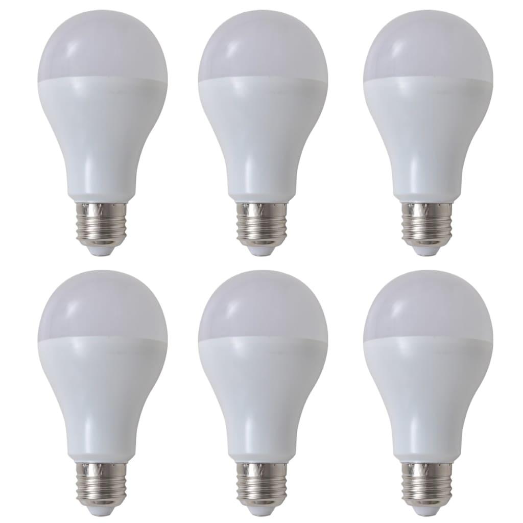 Teple bílé LED žárovky 6 ks, 12 W / E27