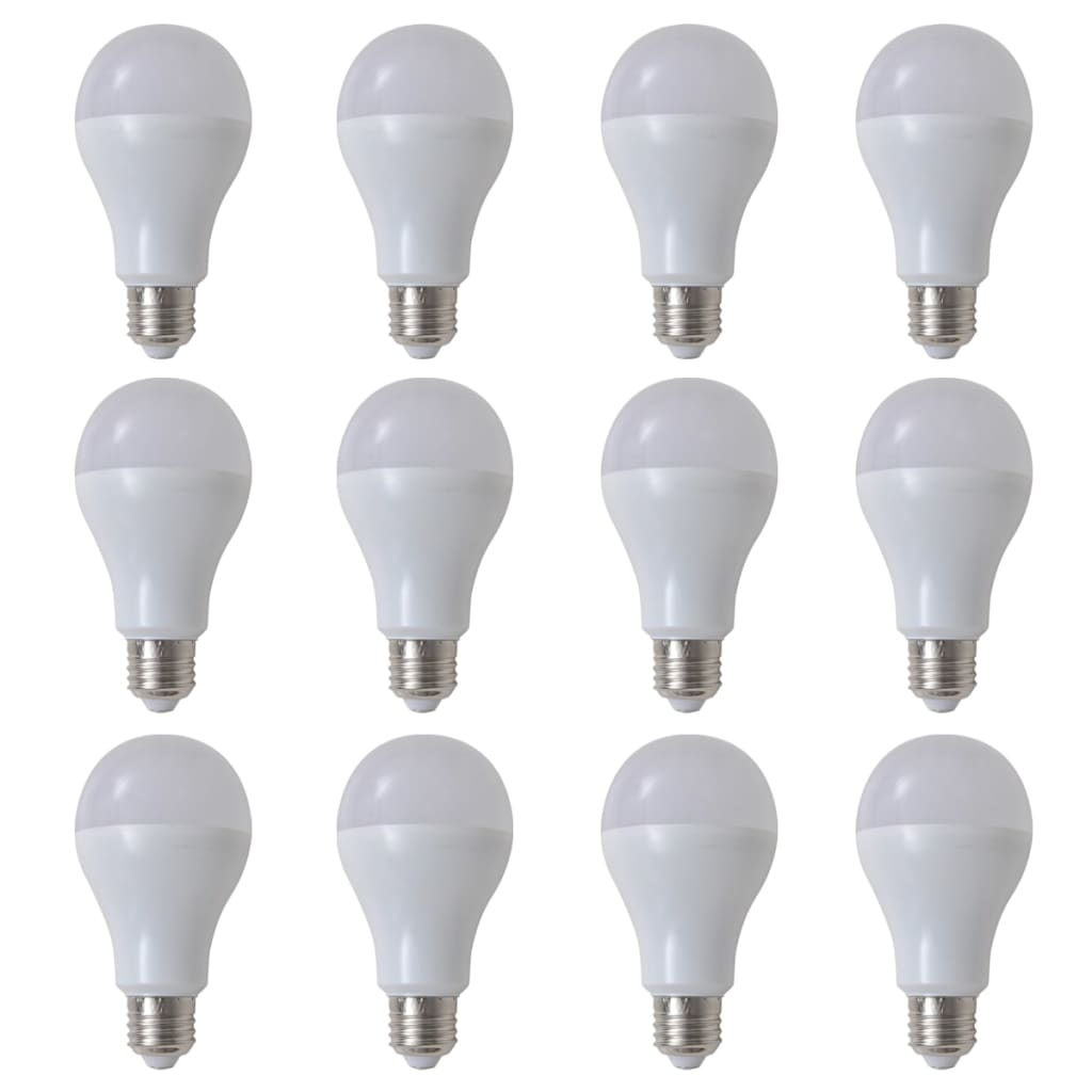 Teple bílé LED žárovky 12 ks, 12 W / E27