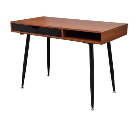Brown Workstation Computer Desk Laptop Table[1/7]
