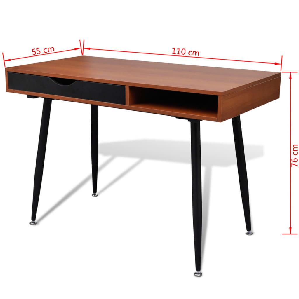 Psací stůl / PC stůl  - vhodný pro notebook - hnědý