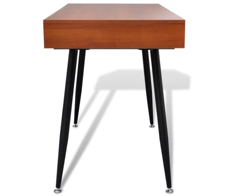 Brown Workstation Computer Desk Laptop Table[4/7]