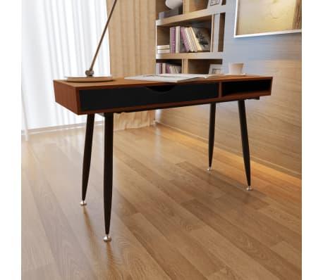 Brown Workstation Computer Desk Laptop Table[6/7]