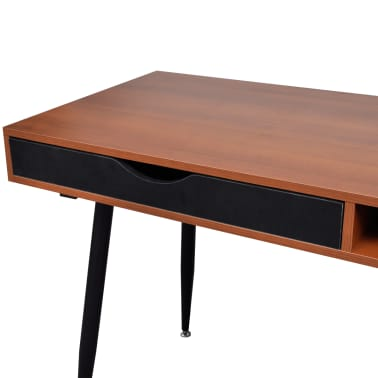 Brown Workstation Computer Desk Laptop Table[6/7]