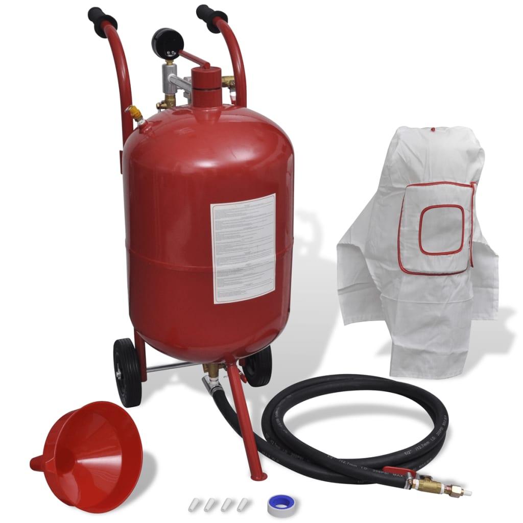 Přenosný pískovací / tryskací stroj s tlakoměrem - 38 L