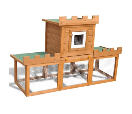 Outdoor Large Rabbit Hutch House Pet Cage Single House[1/8]