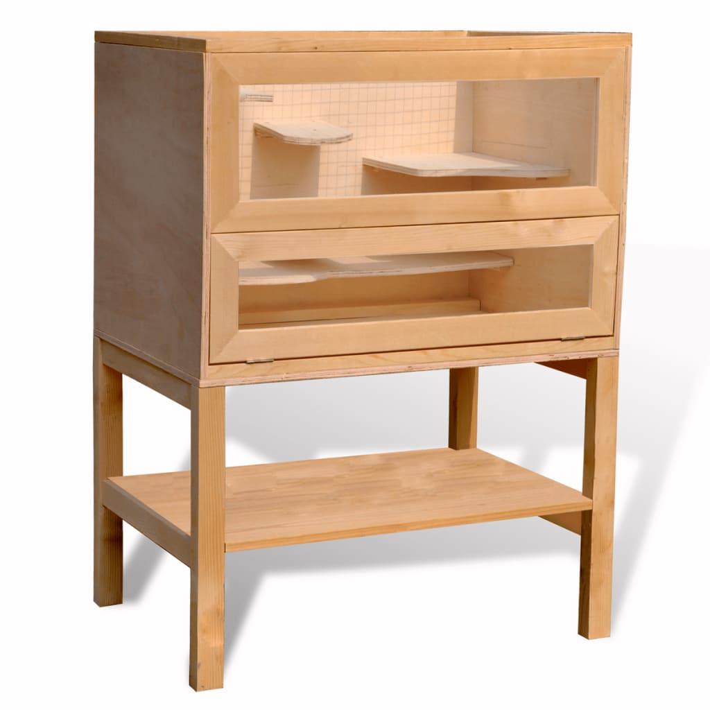 Dřevěný obdélníkový domeček pro křečka