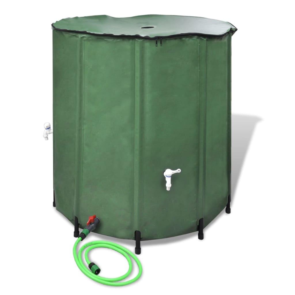 Rezervor de apă de ploaie pliabil 500 L imagine vidaxl.ro