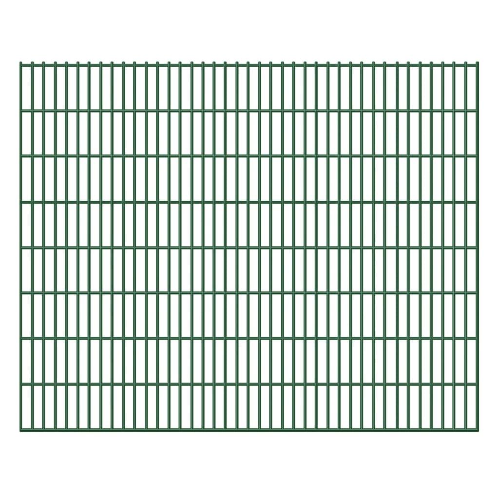 Zahradní plot 2D železný plotový dílec 6/5/6 mm drát 20 ks 163 cm 40 m